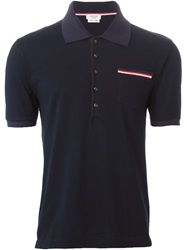 Thom Browne Pocket Polo Shirt Blue