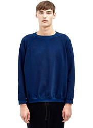 Aiezen Cotton Crew Neck Sweater Blue