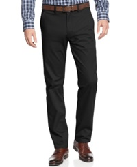 Kenneth Cole Reaction Flat Front Slim Fit Chino Pants Black
