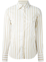 Mauro Grifoni Striped Shirt White