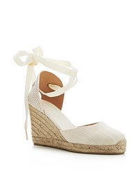 Soludos Tall Lace Up Espadrille Wedge Sandals Blush
