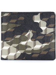 Pierre Hardy Camouflage Cube Design Cardholder Black