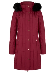 Planet Circle Quilted Coat Claret