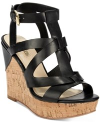 Guess Women's Harlea Wedge Sandals Women's Shoes Black