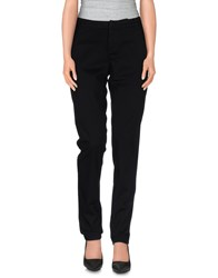 Oblique Trousers Casual Trousers Women Black
