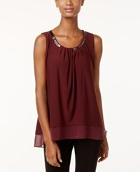 Alfani Sleeveless Chain Neck Top Only At Macy's Marooned