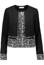 Bailey 44 Joan Jersey And Boucle Tweed Jacket Black