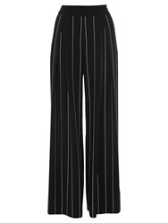 Coast Lile Stripe Wide Leg Trousers Black Ivory