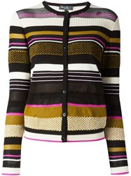 Salvatore Ferragamo Striped Cardigan