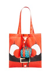 Forever 21 Santa Pop Out Tote Bag Red Multi