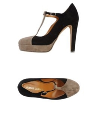 Pierre Darre' Platform Pumps Dark Brown