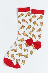 Urban Outfitters Pizza Sock Grey