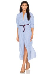 Maison Scotch Maxi Shirt Dress Blue