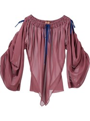 Vivienne Westwood Gold Label 'Nespola' Blouse Pink And Purple