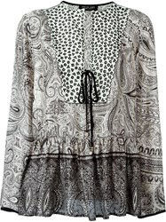 Twin Set Paisley Kaftan Blouse Nude And Neutrals