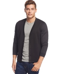 Inc International Concepts Ottoman Stitch Cardigan Only At Macy's Deep Black