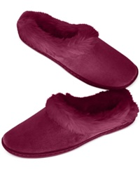 Charter Club Microvelour Clog Memory Foam Slippers Only At Macy's Wine