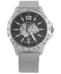Game Time Chicago Blackhawks Cage Series Watch Silver Black