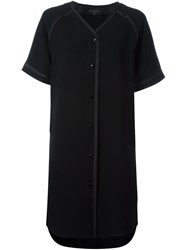 Rag And Bone V Neck Shirt Dress Black