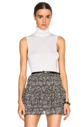 Equipment Bette Sleeveless Turtleneck Sweater In White