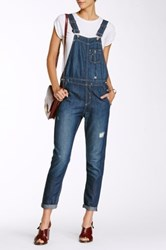 Big Star Heather Distressed Overalls Blue