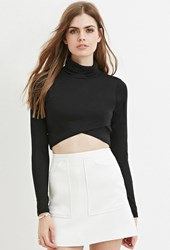 Forever 21 Contemporary Textured Mini Skirt Ivory