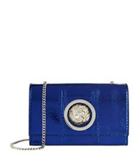 Versus By Versace Flap Chain Shoulder Bag Navy