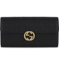 Gucci Gg Icon Leather Wallet Black