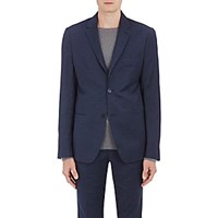 Barneys New York Men's Nailhead Two Button Sportcoat Blue