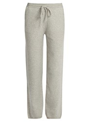 Joseph Mid Rise Wide Leg Wool Trousers Light Grey