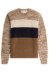 Marni Cashmere Colorblock Pullover Brown