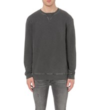 Allsaints Wilde Cotton Jersey Sweatshirt Washed Graphit