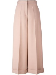 Valentino High Waisted Palazzo Pants Pink Purple