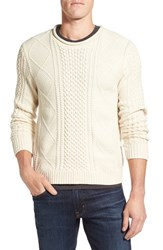 Nordstrom Men's Men's Shop Wool Blend Fisherman Sweater White Snow Heather
