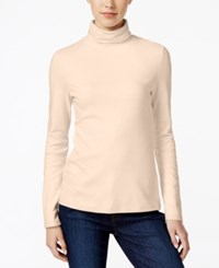 Charter Club Turtleneck Top Only At Macy's Vanilla Bean