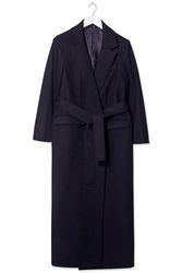 Wool Wrap Coat By Boutique Navy