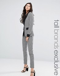 Fashion Union Tall Houndstooth Print Tailored Pant Co Ord Multi