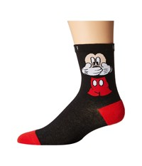 Neff Uh Oh Mickey Sock Youth Black Men's Crew Cut Socks Shoes
