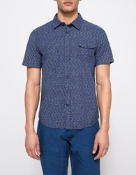 Native Youth Soundwave Short Sleeve Shirt Indigo