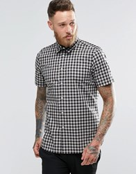 Paul Smith Shirt With Check In Short Sleeve Tailored Slim Fit Black Check