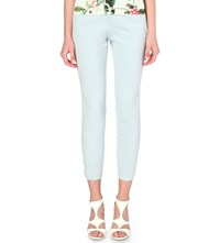 Ted Baker Sorelit Skinny Tapered Trousers Pale Blue
