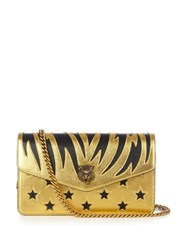 Gucci Broadway Leather Cross Body Bag Black Gold