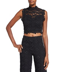 Nightcap Clothing Dixie Lace Crop Top Black