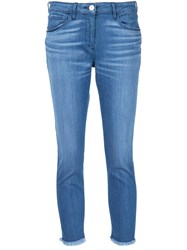 3X1 Skinny Cropped Jeans Blue