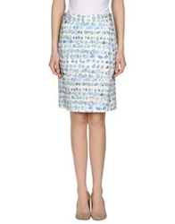 Clements Ribeiro Knee Length Skirts Ivory