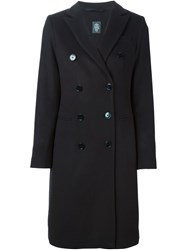 Eleventy Classic Double Breasted Coat Blue