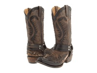 Stetson Snip Toe Harness W Bleach Boot Brown Cowboy Boots