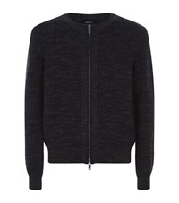 3.1 Phillip Lim Two Tone Zip Up Knit Jacket Male Navy