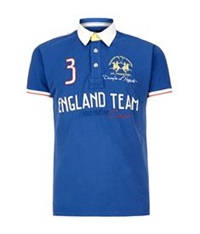 La Martina England Team Polo Shirt Blue