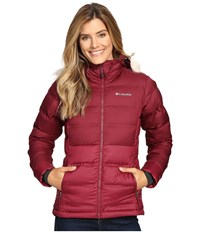 Columbia North Protection Hooded Jacket Chianti Women's Coat Red